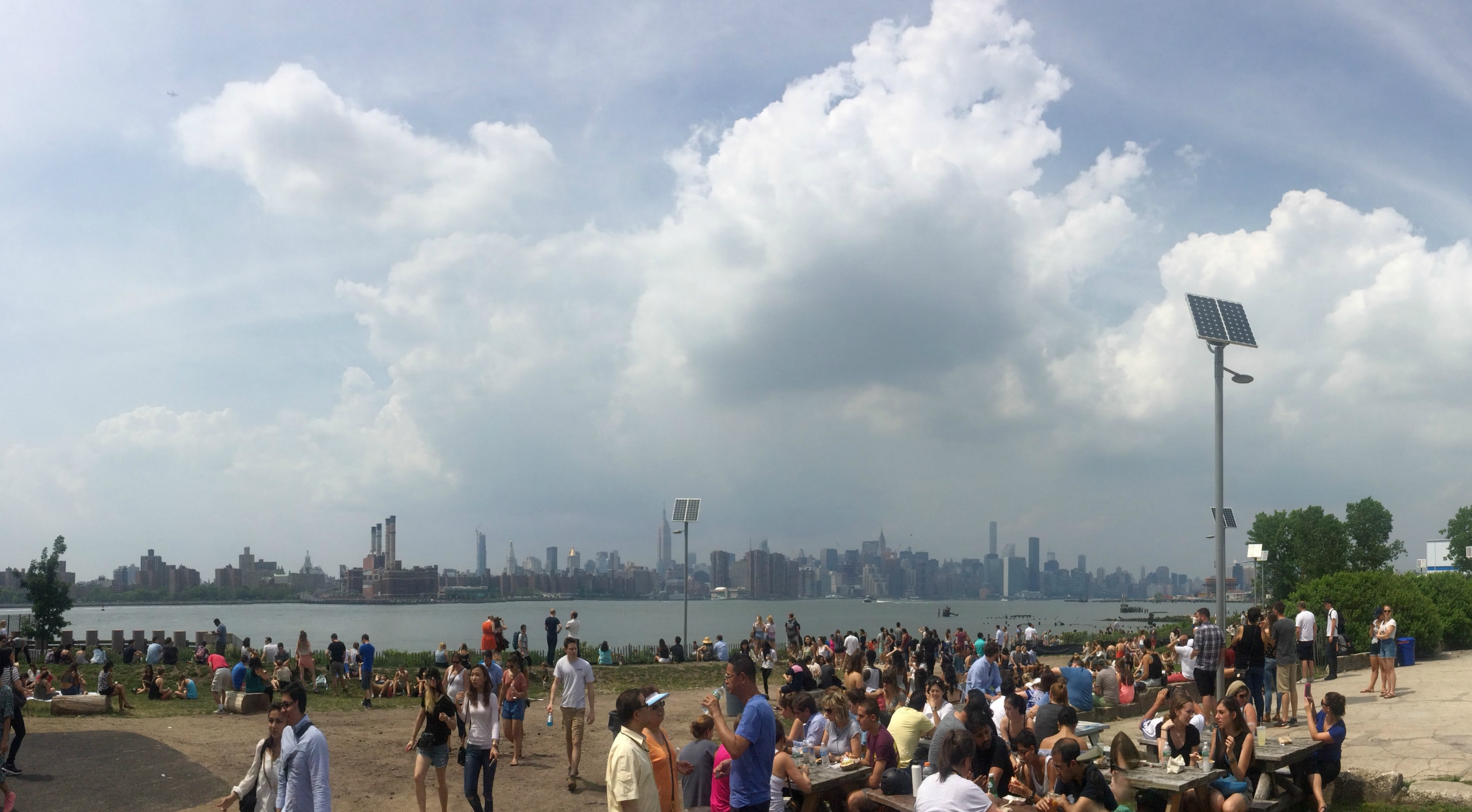 Manhattan view from Smorgasburg, Williamsburg