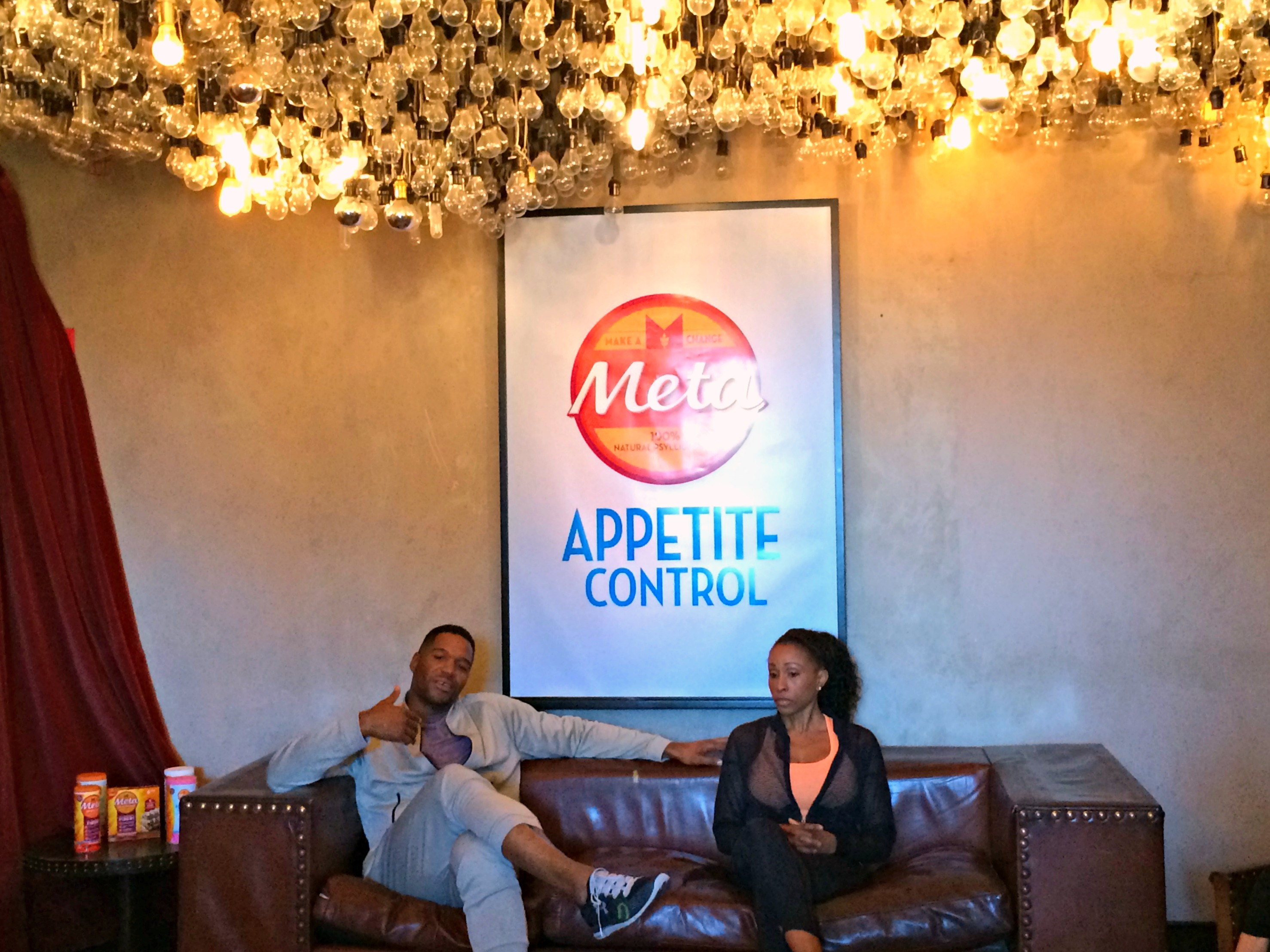 Meta Appetite Control health and fitness talk with Michael Strahan and Latreal Mitchell