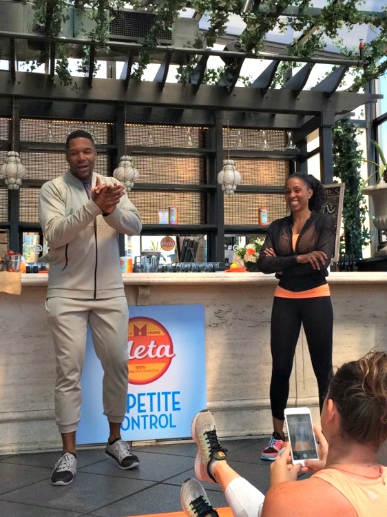 Michael Strahan and celebrity trainer Latreace Mitchell