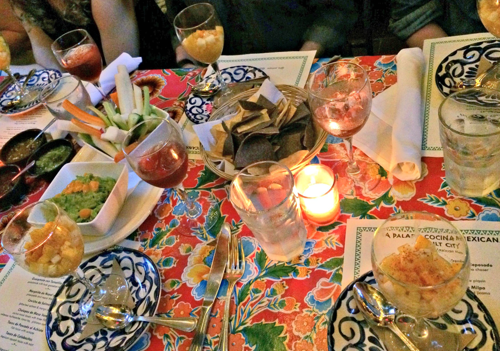 NYC blogger dinner at La Palapa