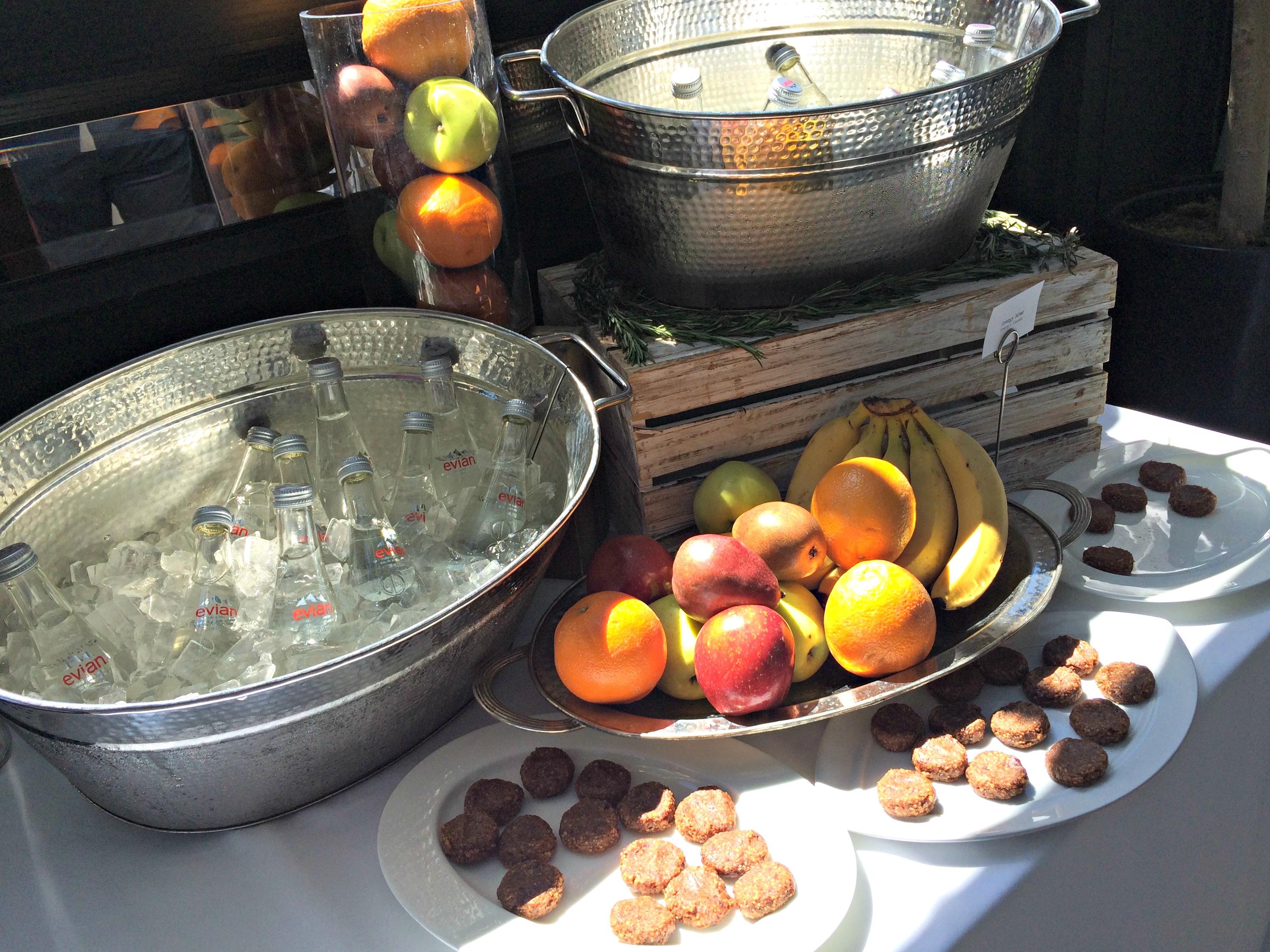 healthy Metamucil snacks and water