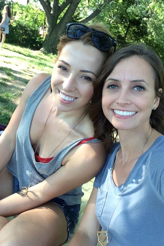 lauren and heather in park