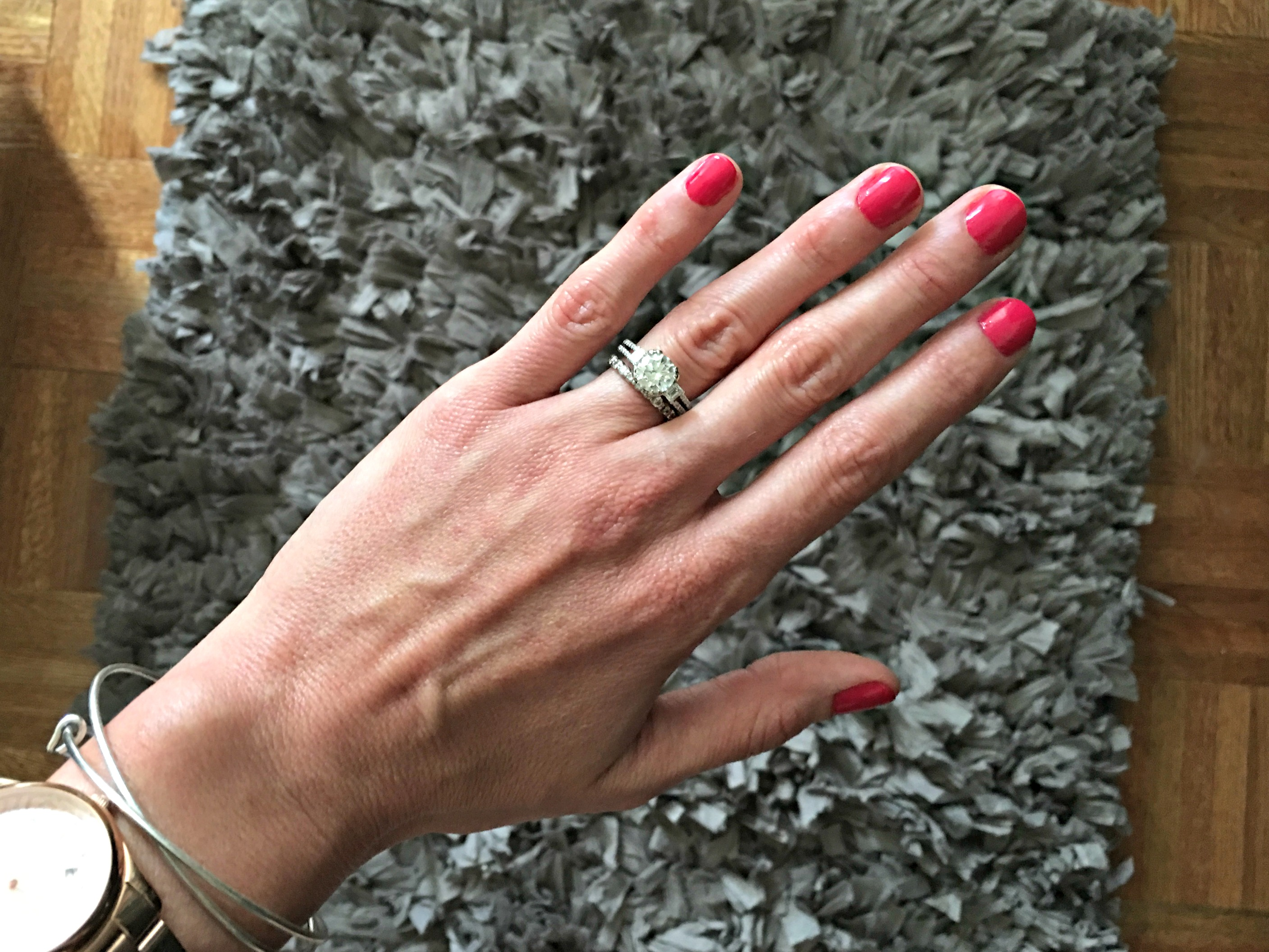 summer manicure - Essie nail polish - Watermelon