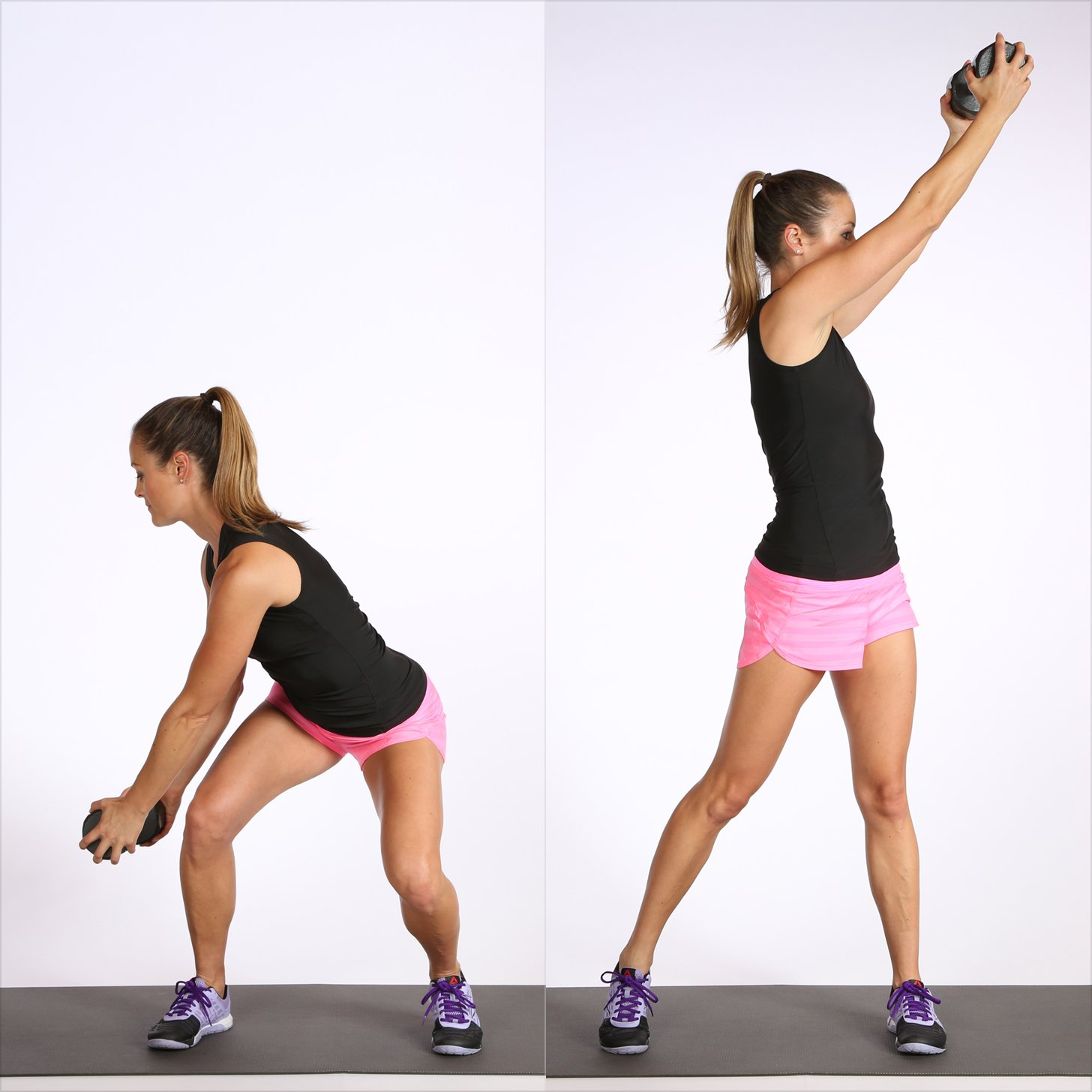 woodchop exercise with dumbbell
