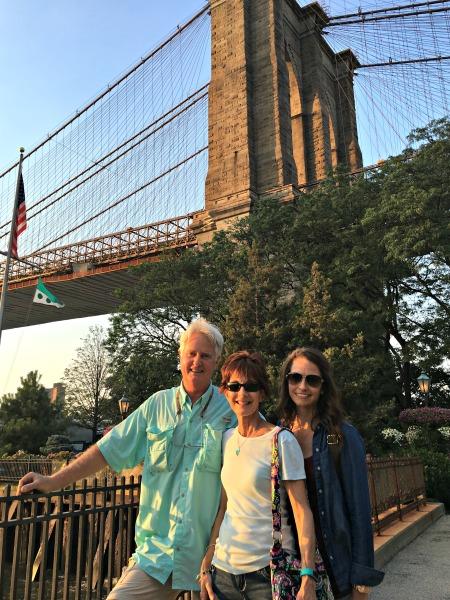 Brooklyn Bridge with parents