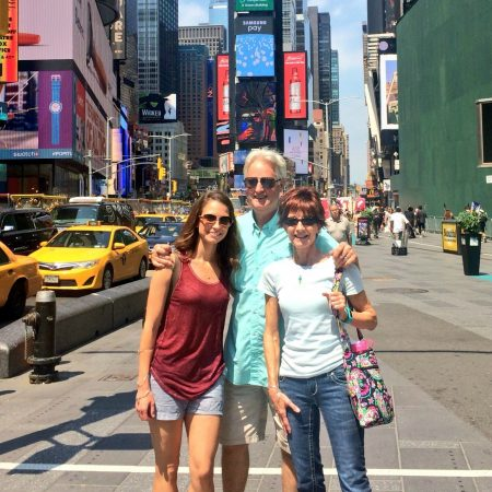 Times Square with Mom and Dad