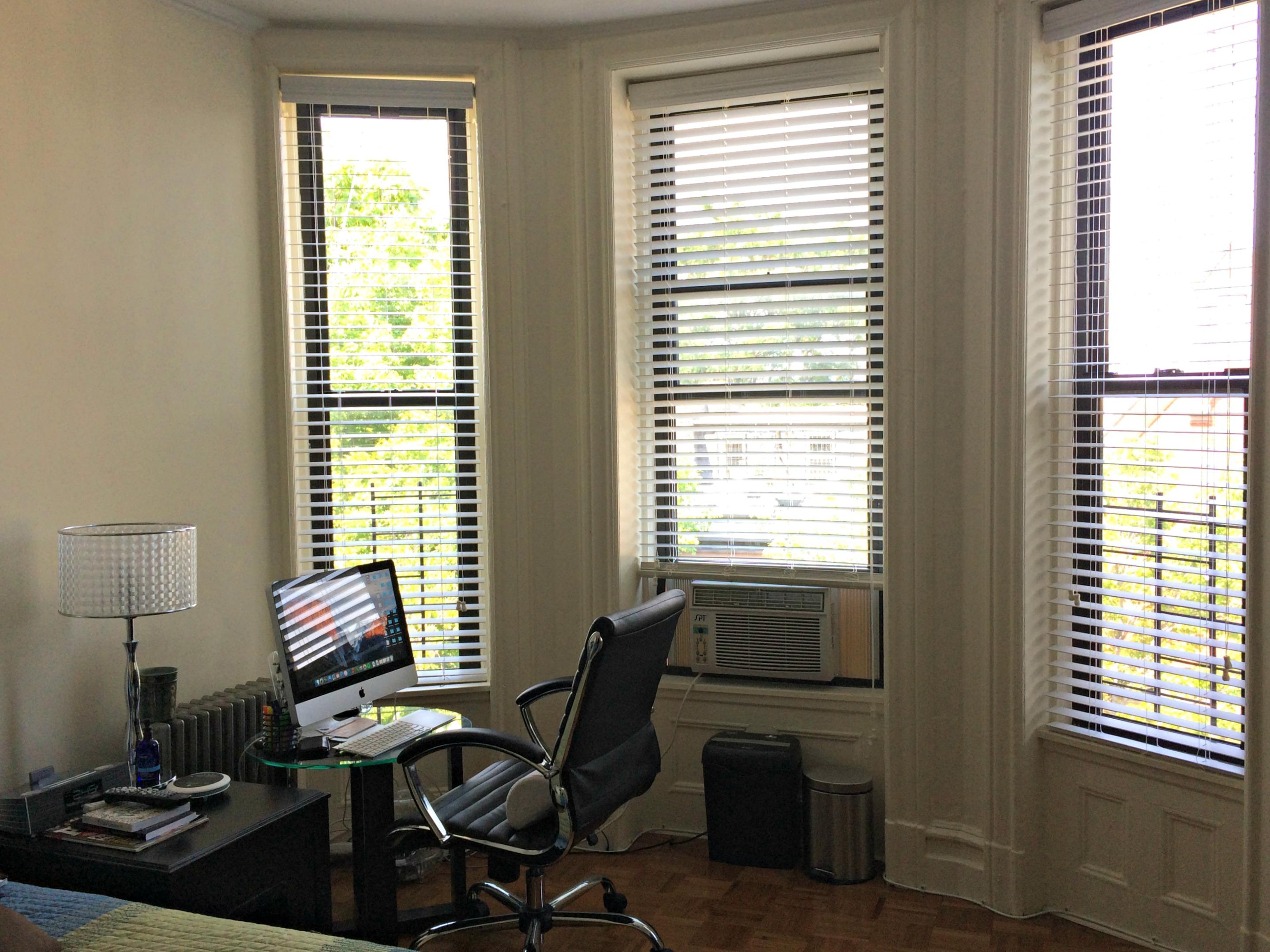 custom blinds in the bedroom