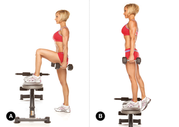 dumbbell step up exercise
