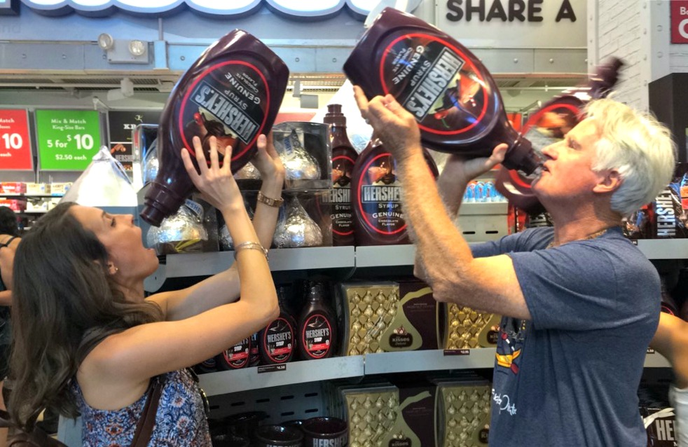 hershey's store with dad