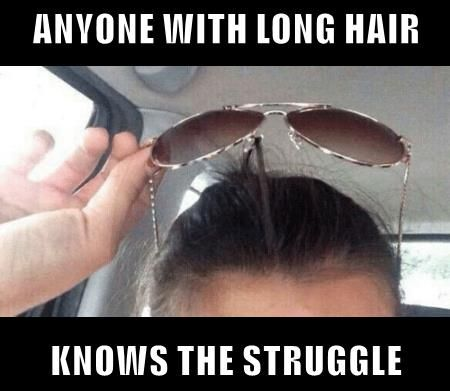 long hair struggle