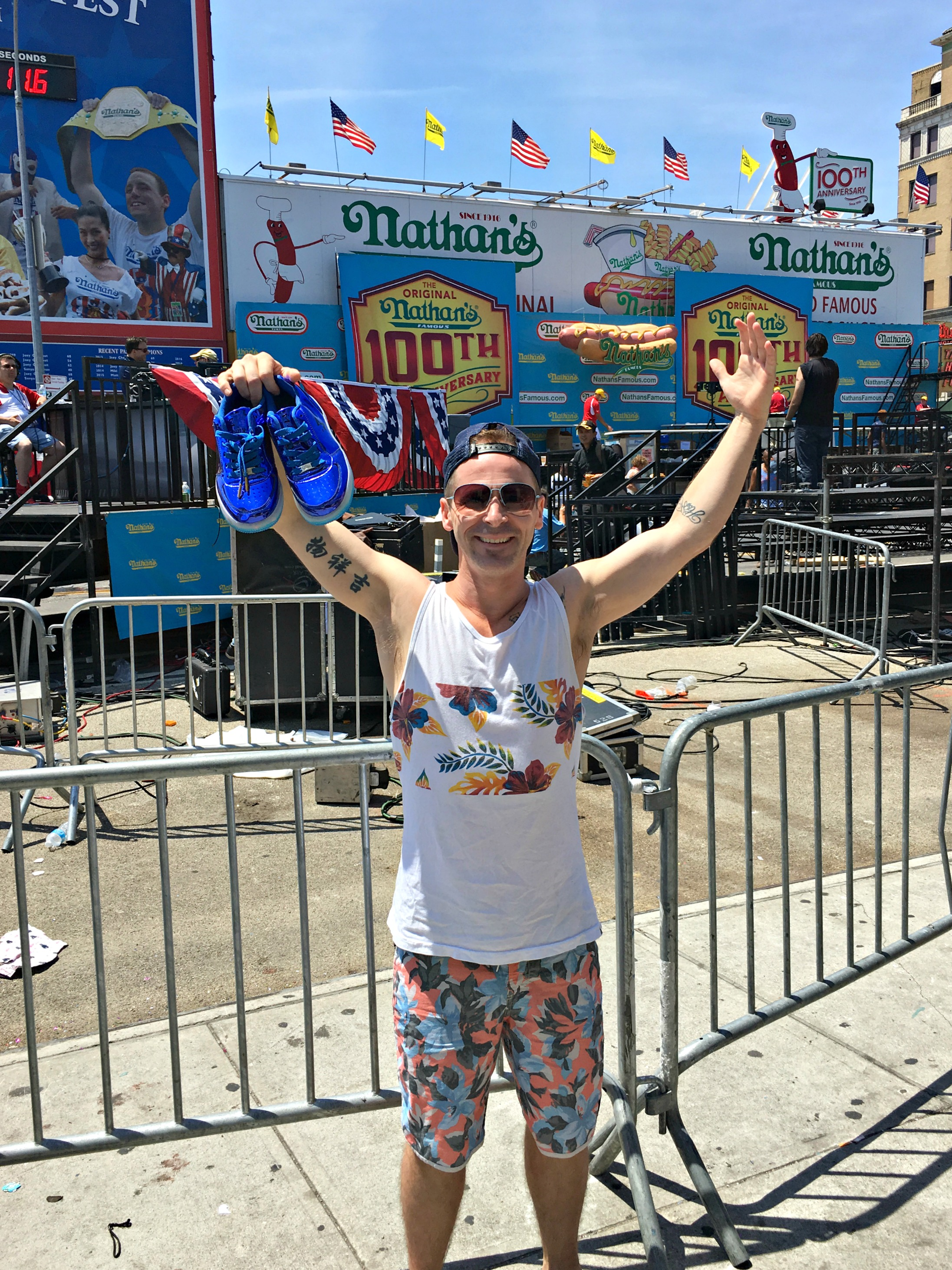 nathan's hot dog eating contest stephon marbury shoes