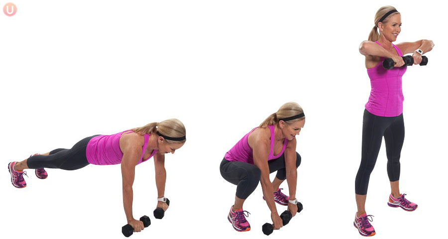 plank to upright row exercise