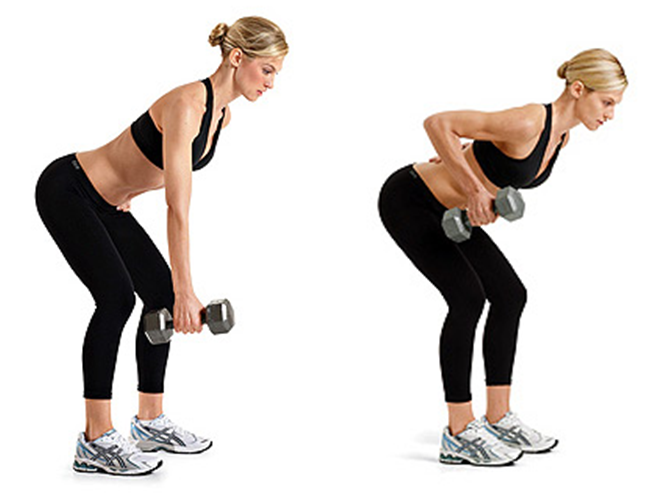 single arm dumbbell rows