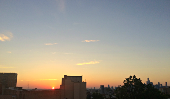 sunset from our rooftop