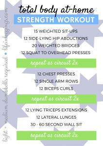total body at-home strength workout