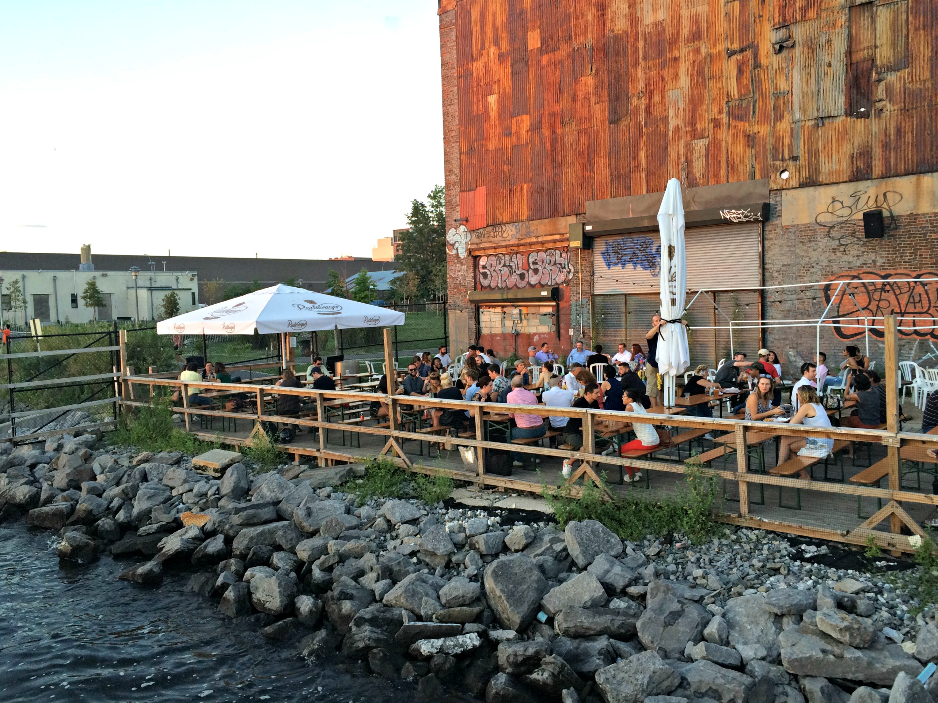 Brooklyn Barge seating area