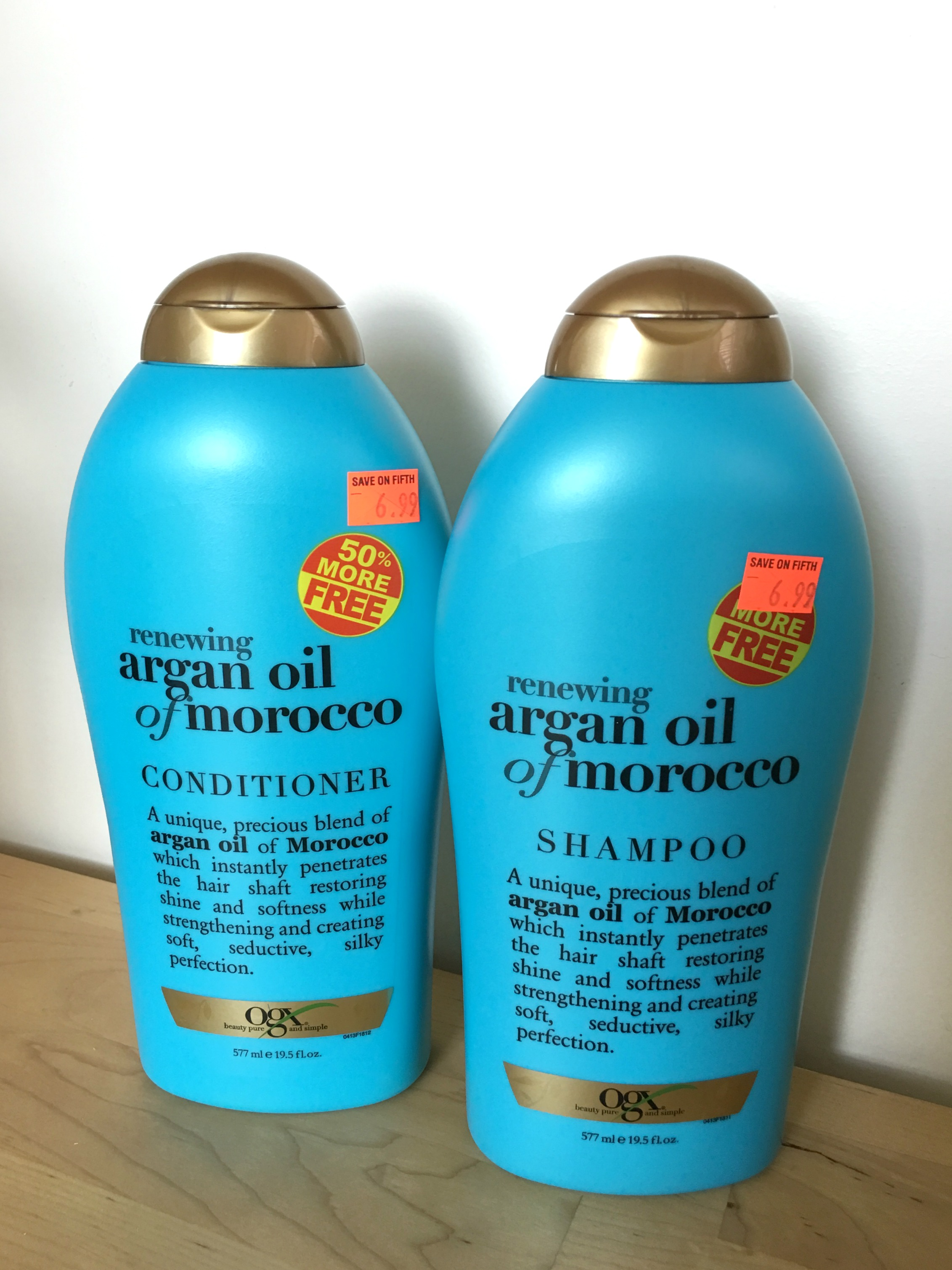 Renewing Argan Oil of Morocco shampoo and conditioner