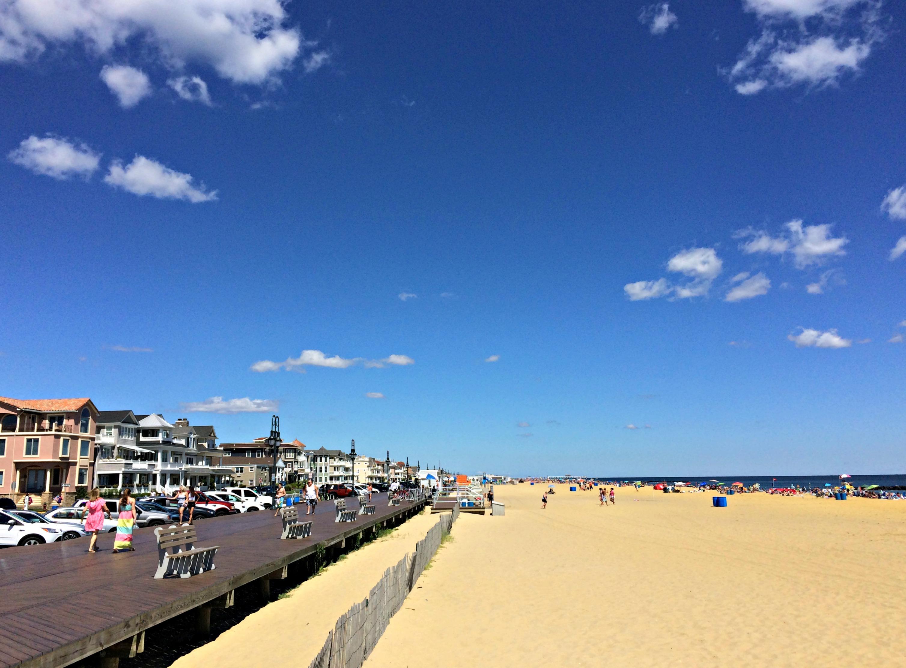 belmar beach, new jersey shore