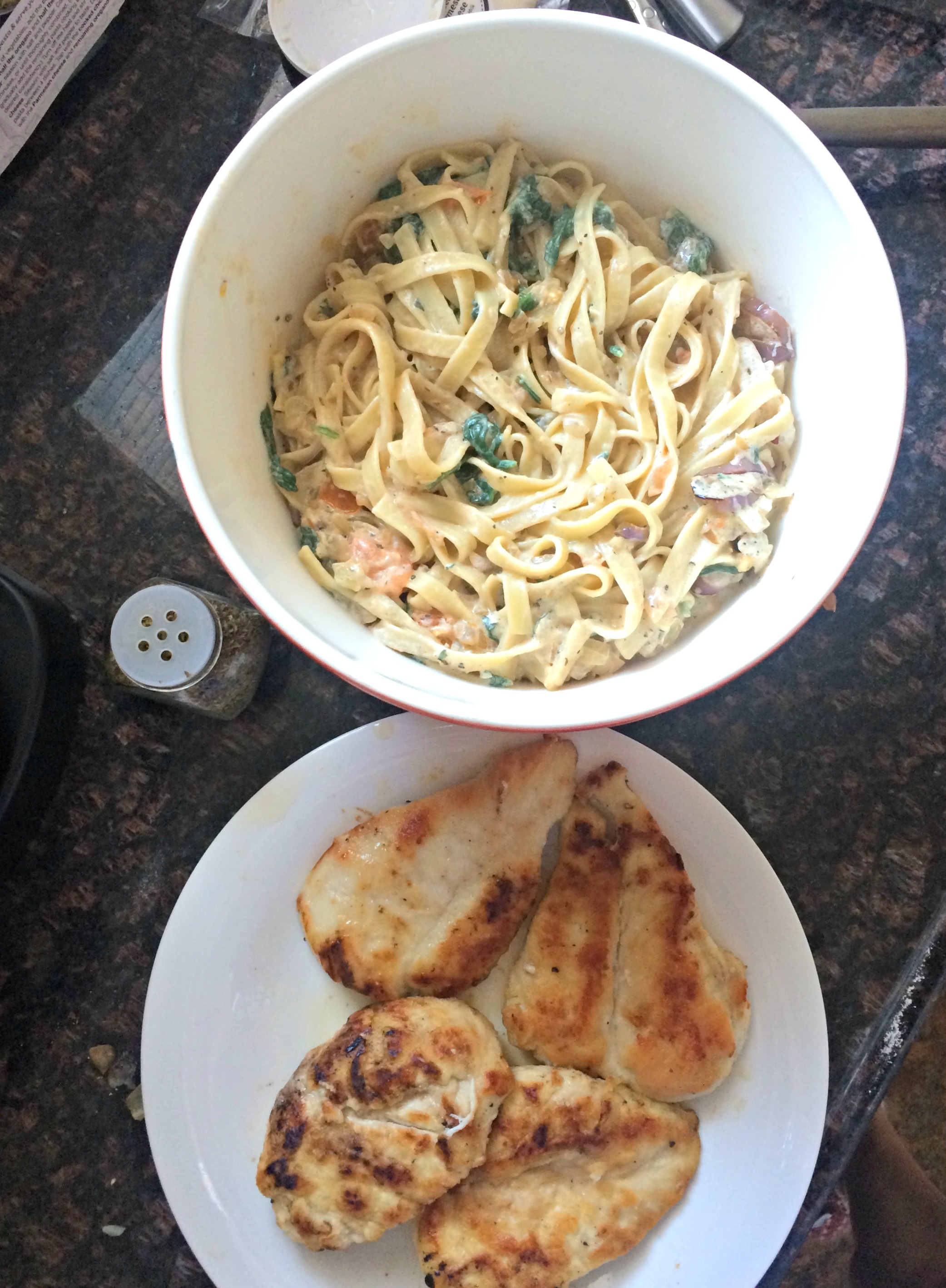 blue apron chicken and pasta