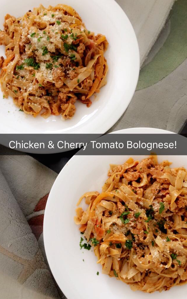 chicken & cherry tomato bolognese