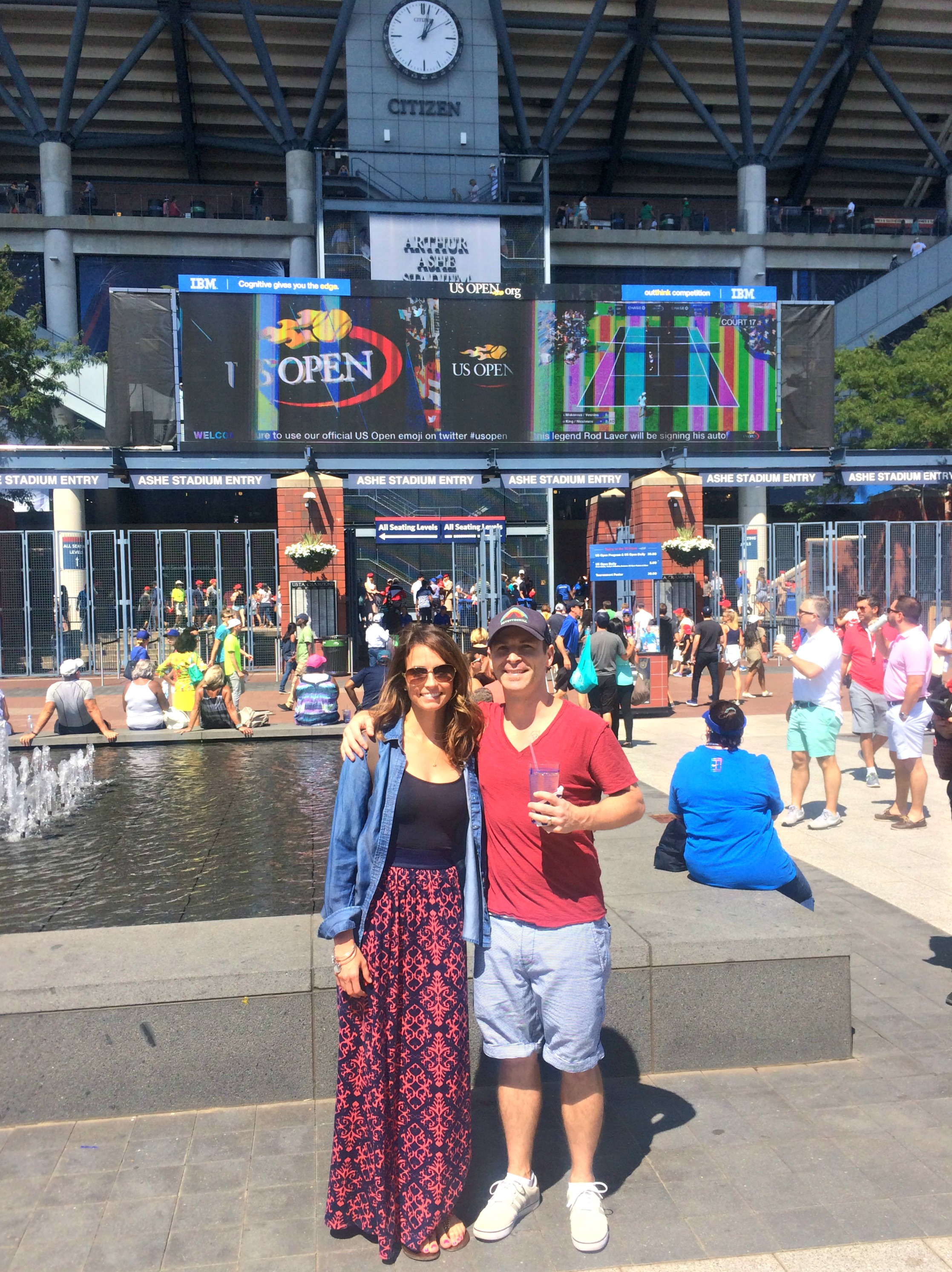Scott and Heather at US Open