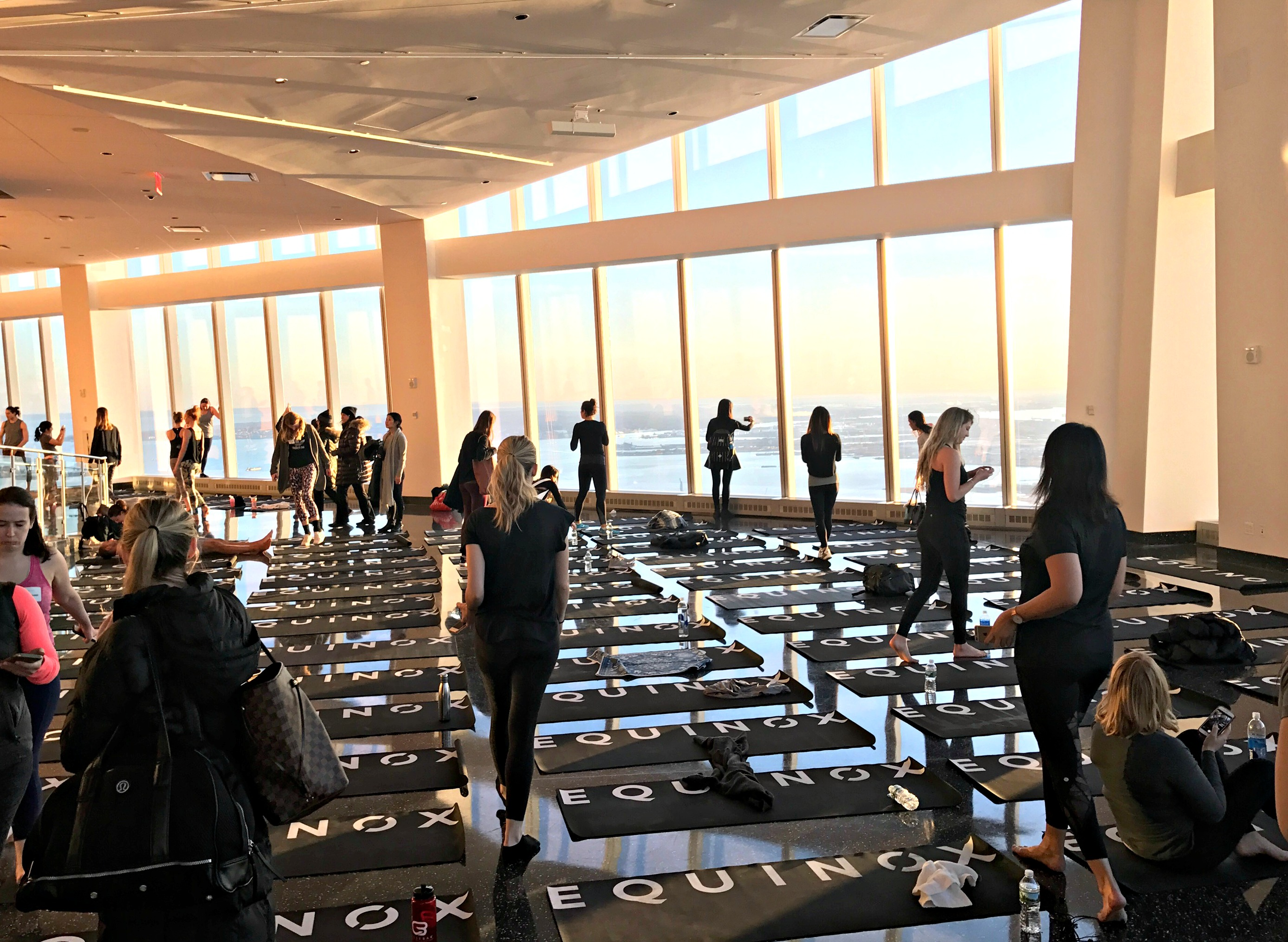one world trade observatory view equinox yoga