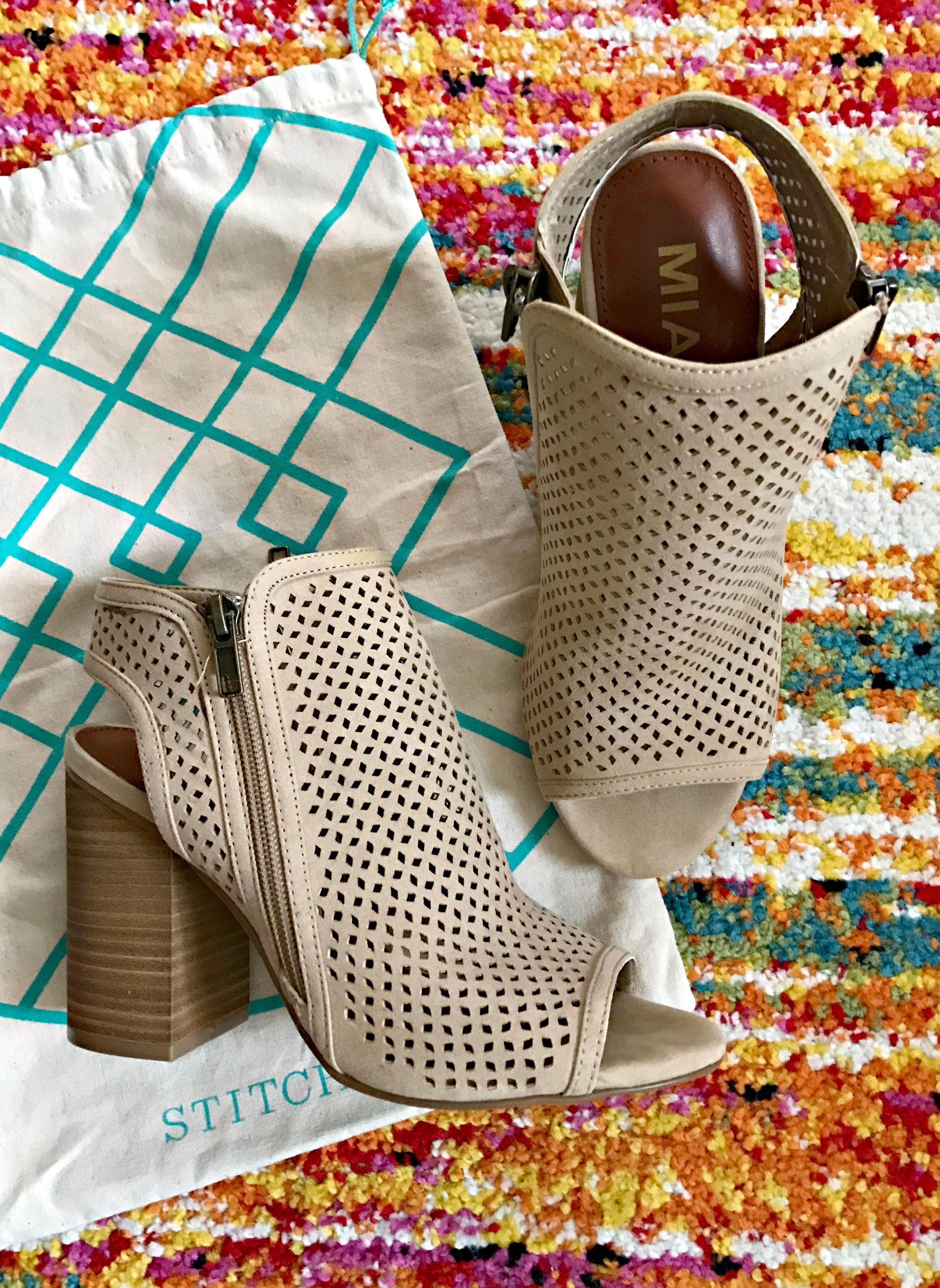 stitch fix mia peep toe bootie
