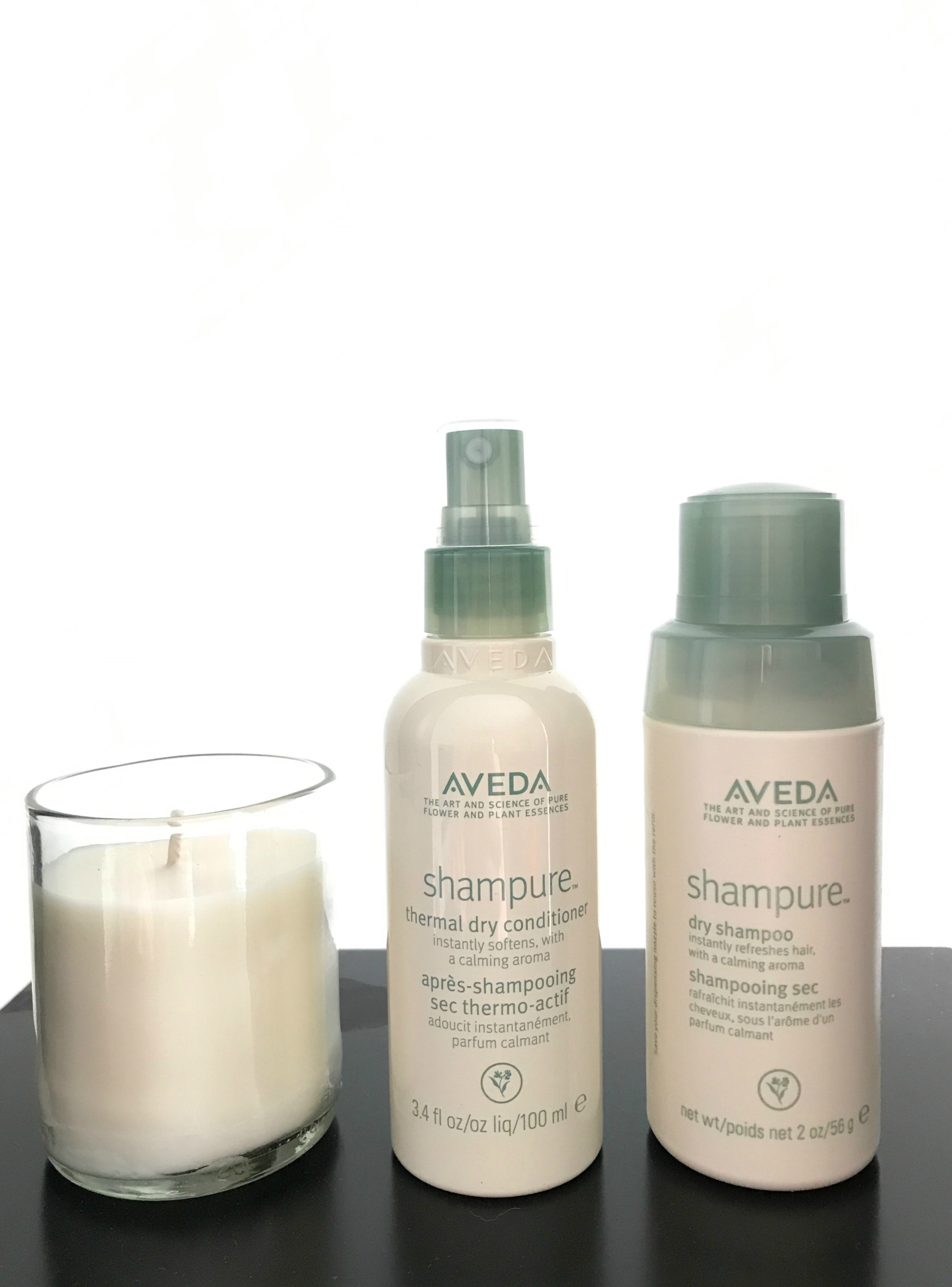 aveda shampure dry shampoo and conditioner