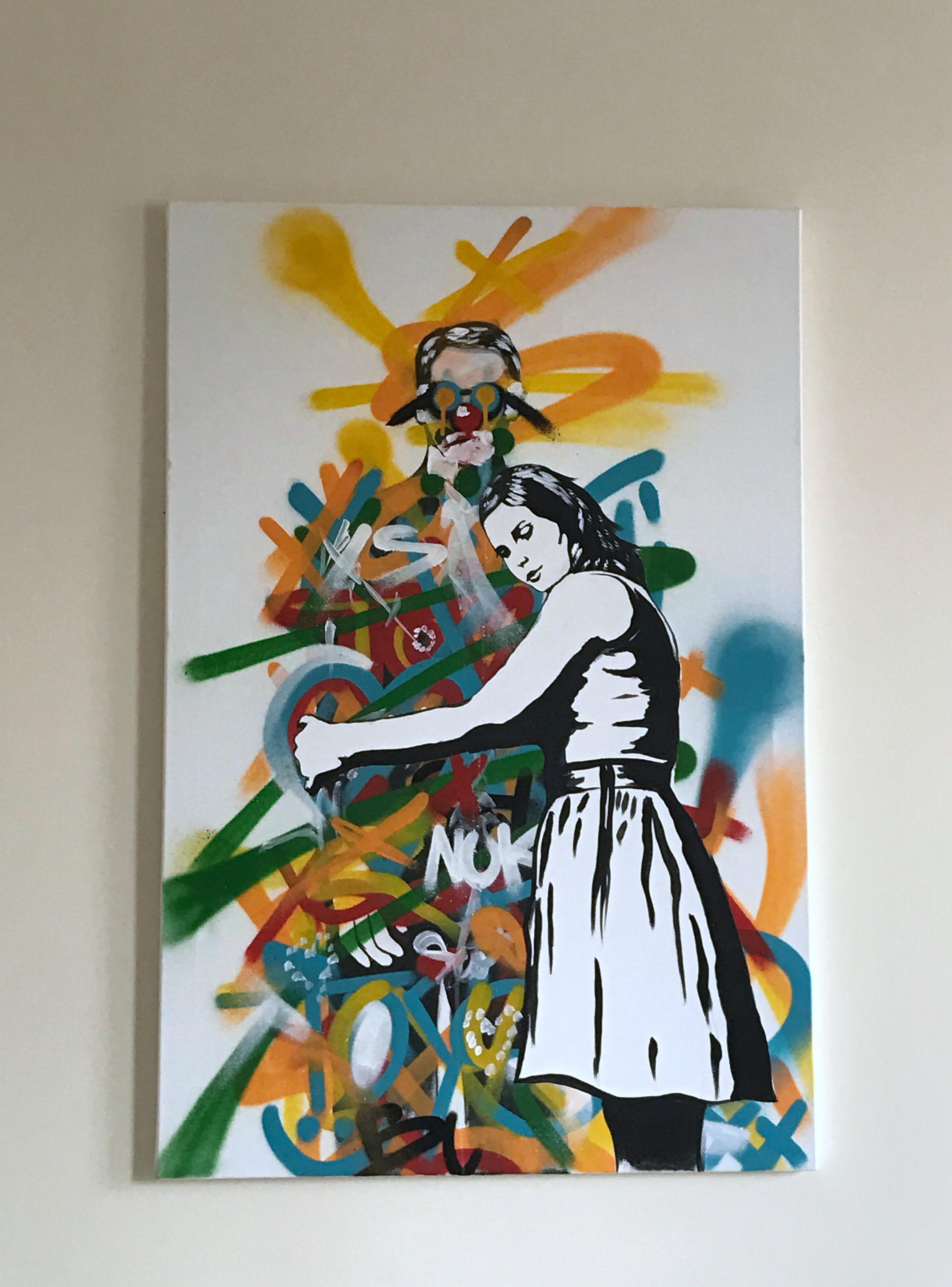 custom painting man and woman