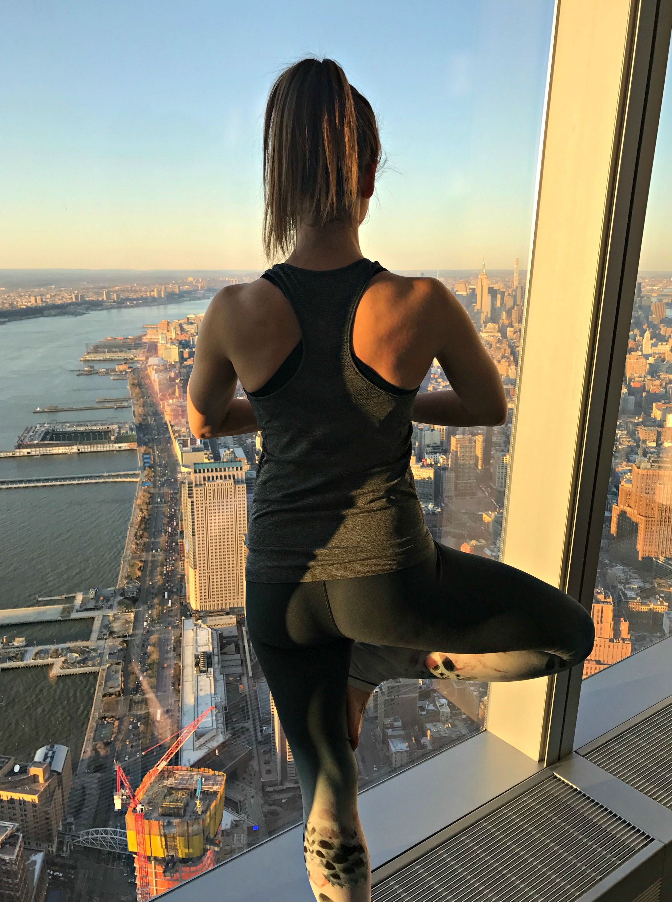 looking out to city from one world trade