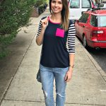 stitch fix boyfriend jeans and striped top