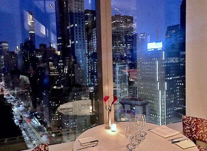 dinner at mandarin oriental hotel nyc