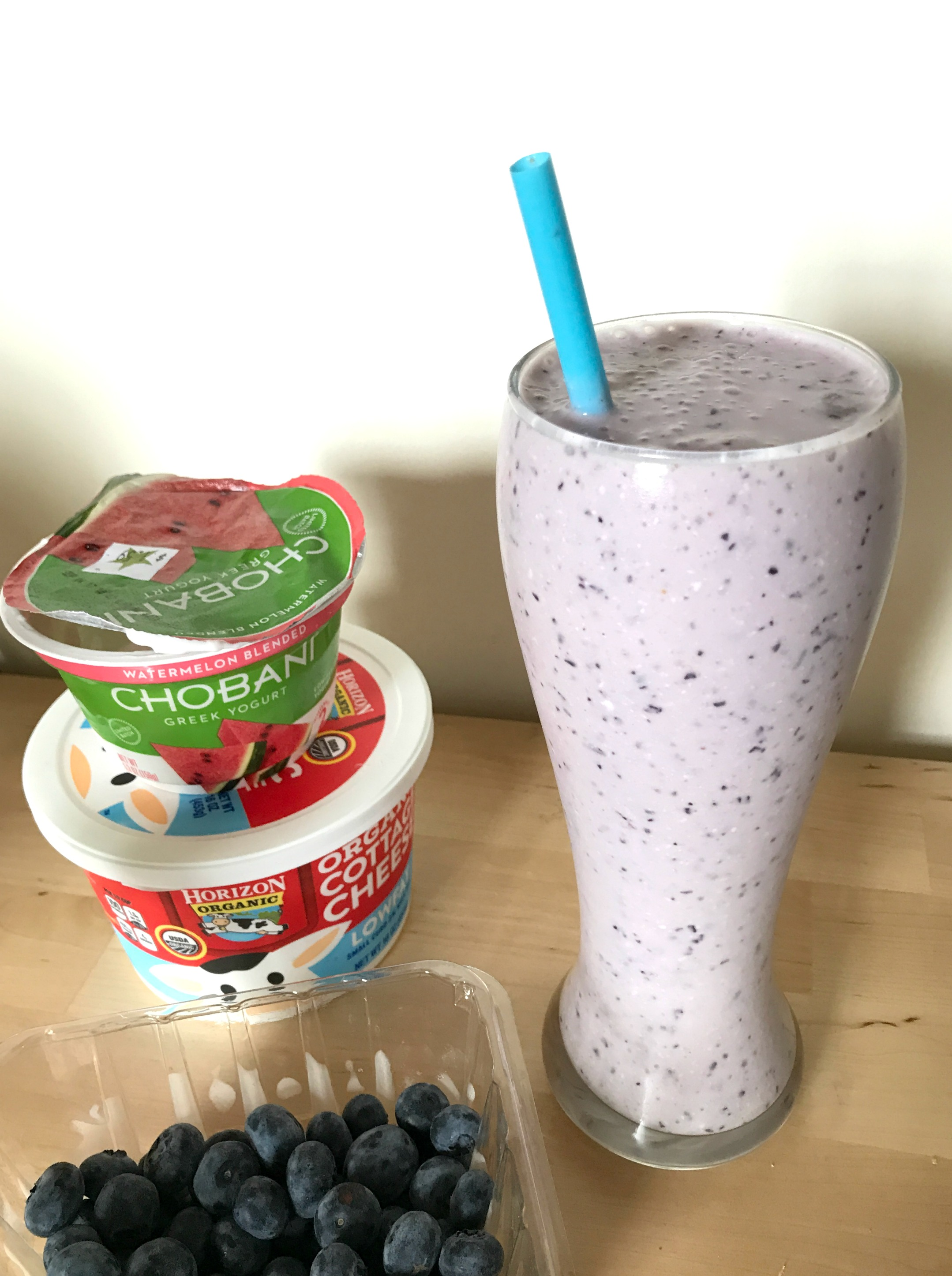 fruit smoothie with cottage cheese