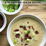 (No Cream) Loaded Potato Soup
