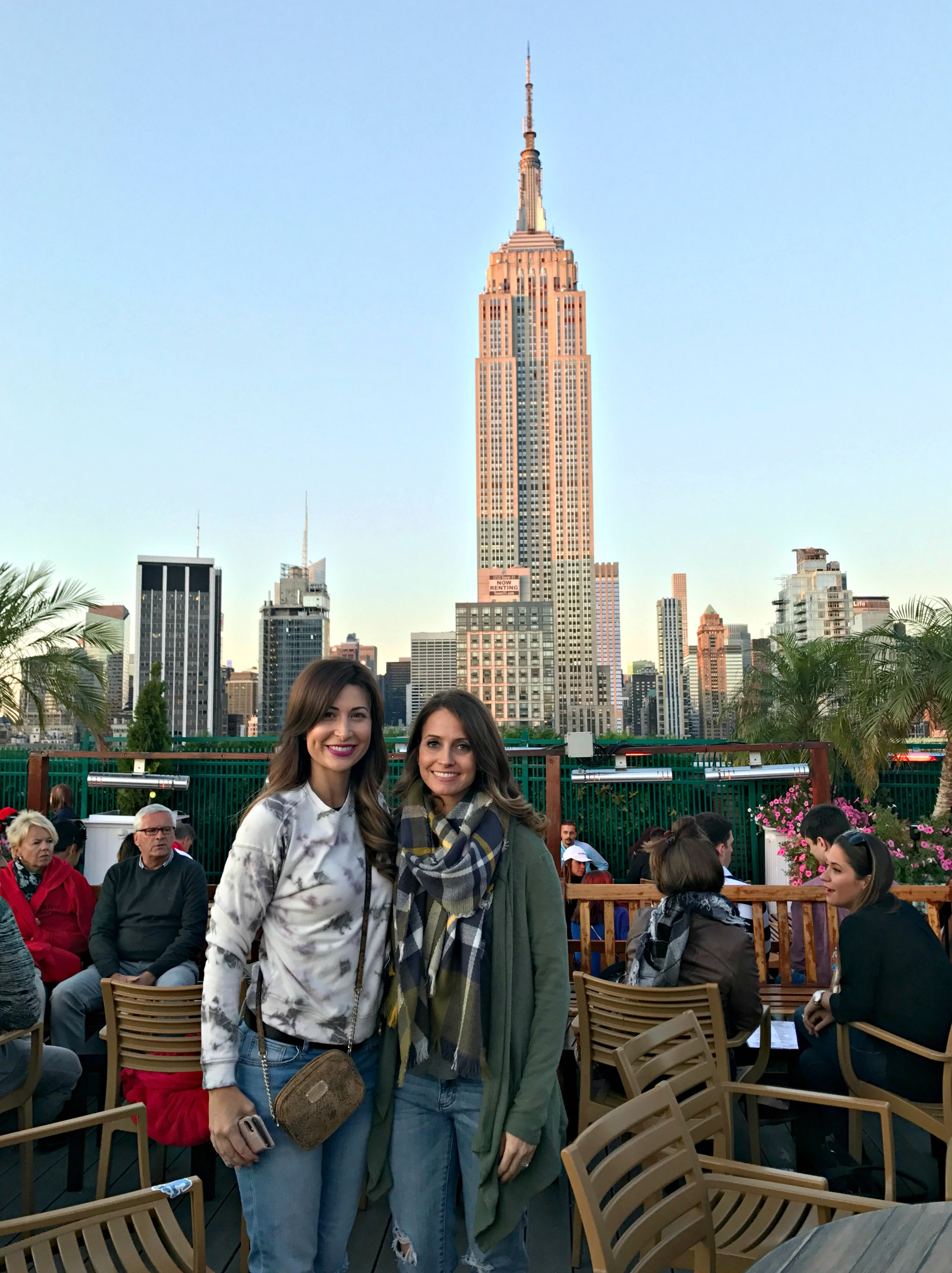 heather and meggan at 230 fifth rooftop bar