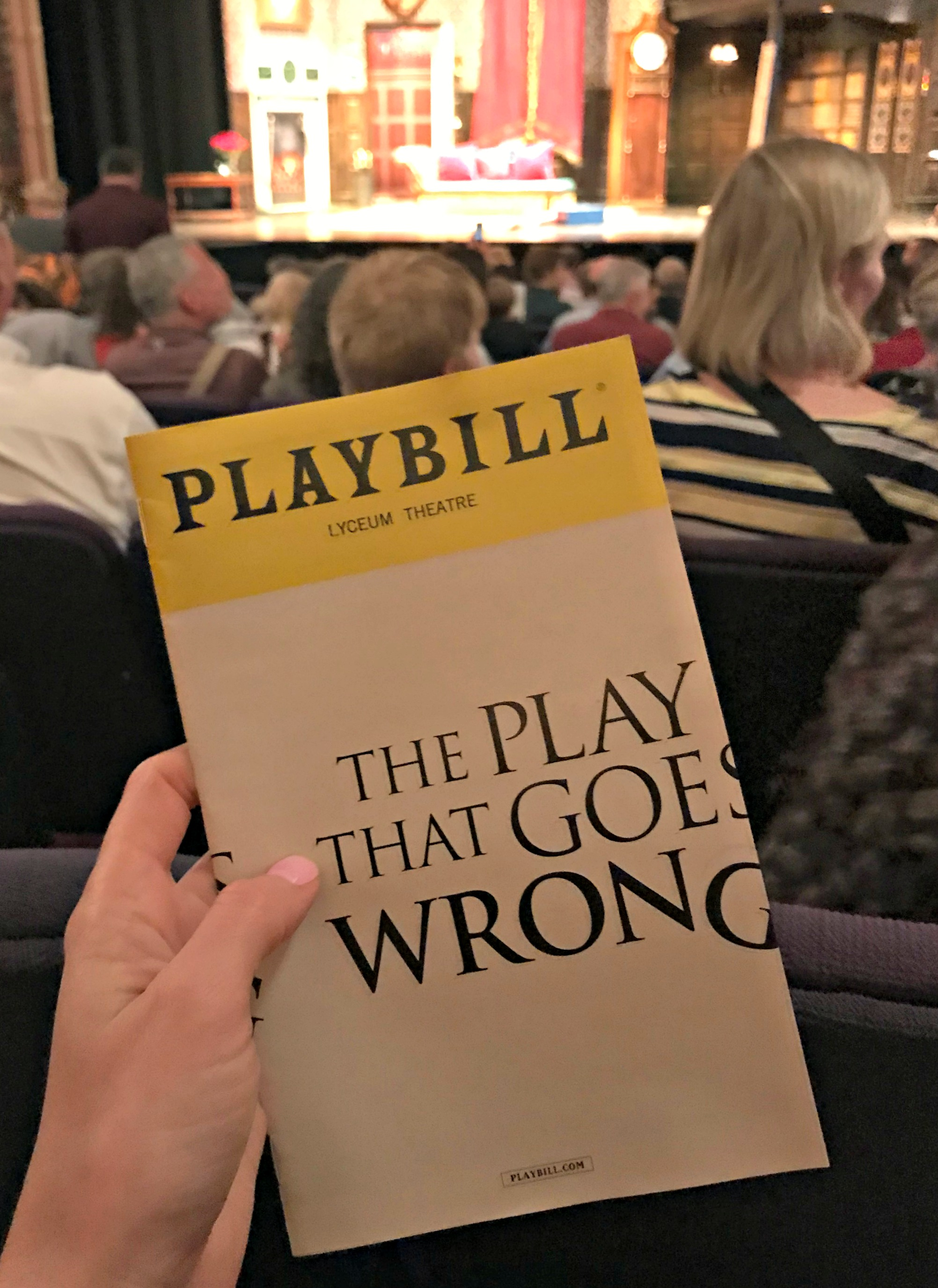 the play that goes wrong nyc