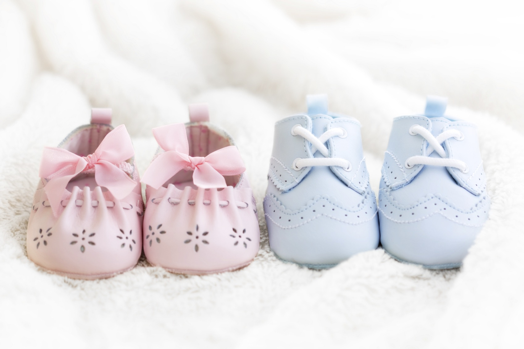 Baby shoes for a boy and a girl
