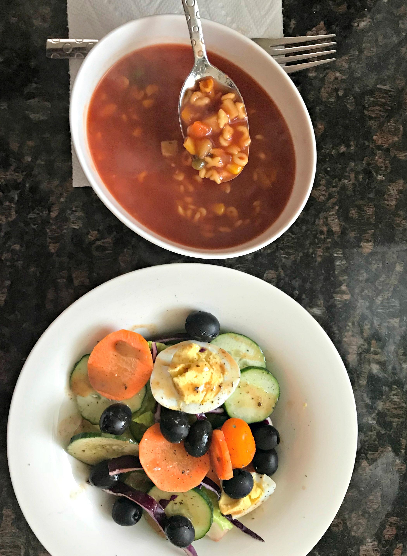 amy's soup and salad