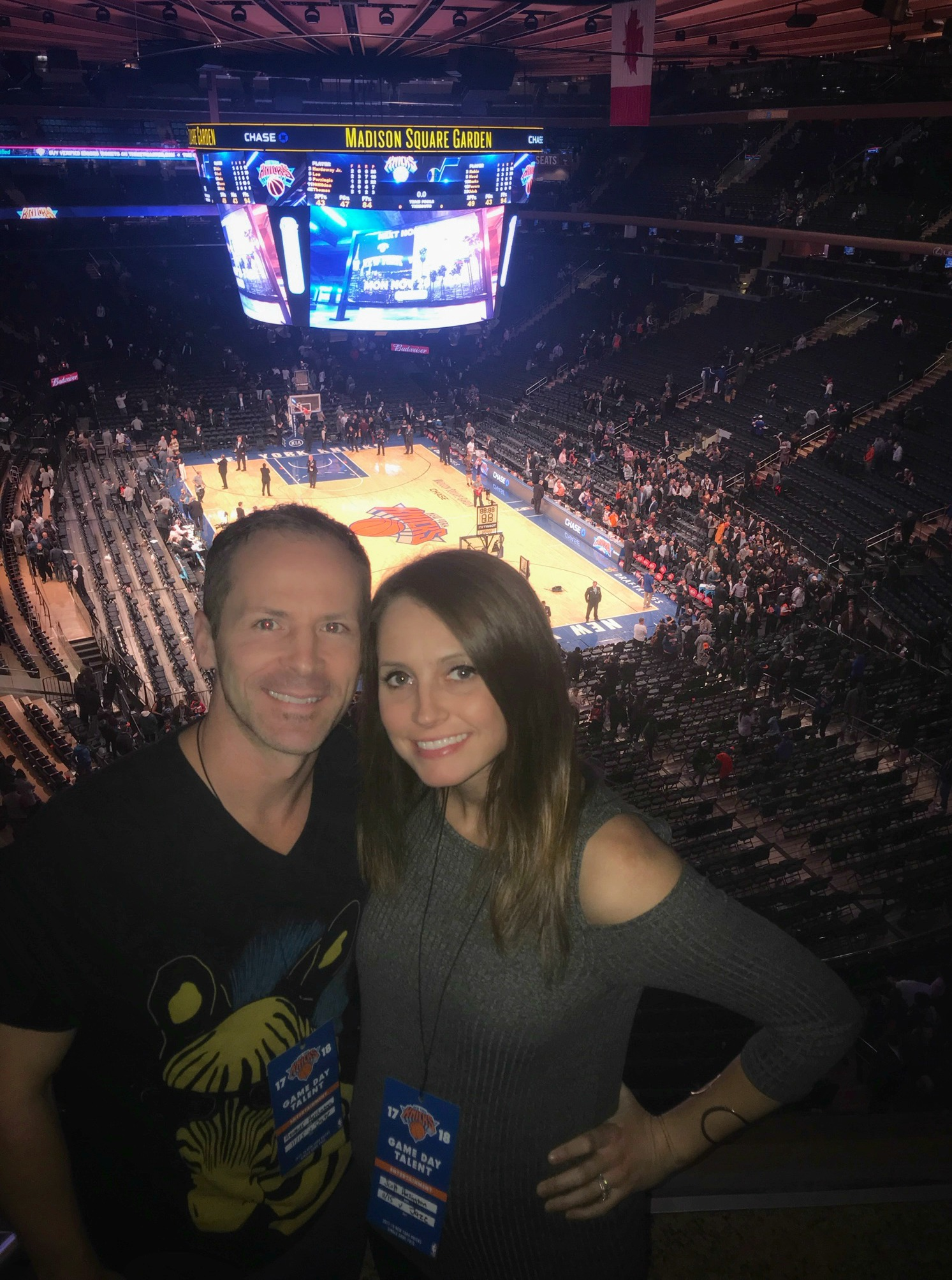 scott and heather ny knicks game