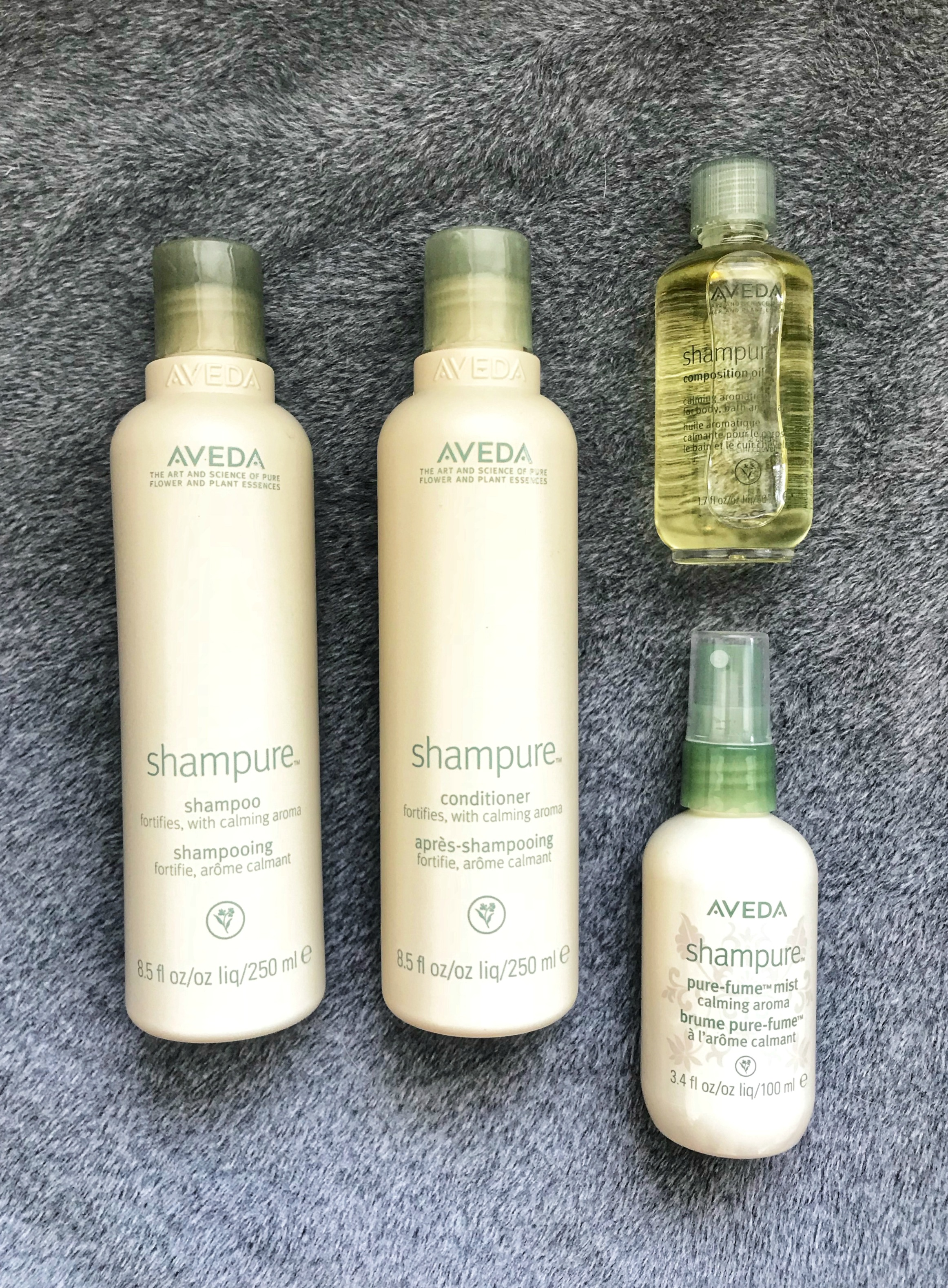 Aveda Shampure products