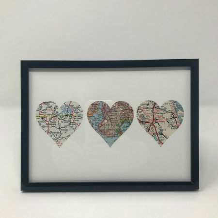 custom map picture with hearts