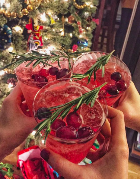 holiday cocktail and mocktail