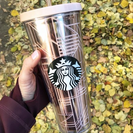 rose gold starbucks cup