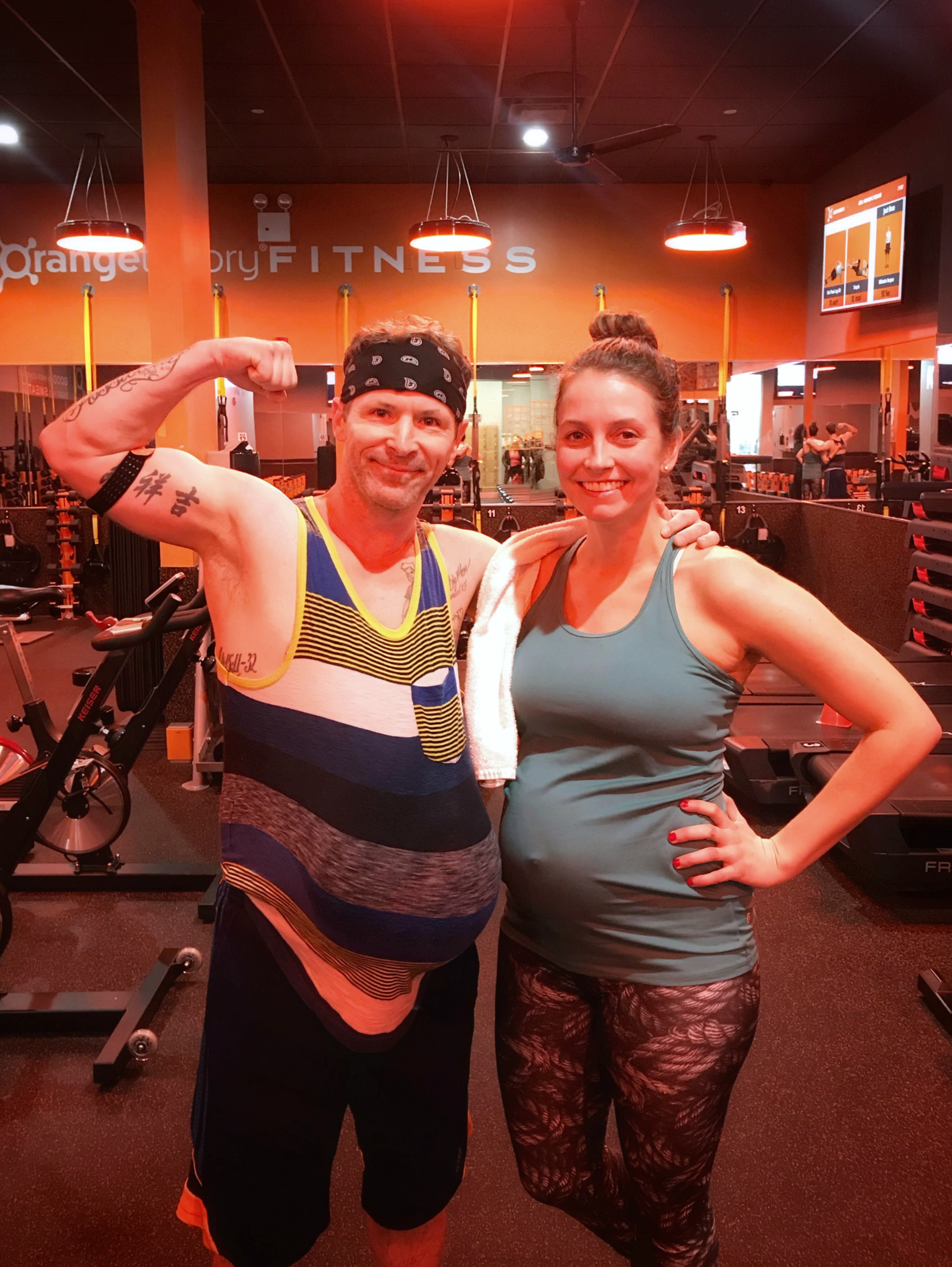 heather and scott working out pregnant
