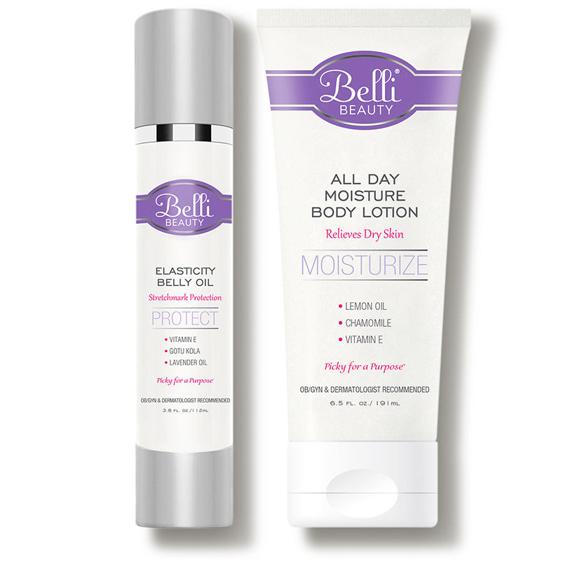 belli beauty belly elasticity oil and lotion