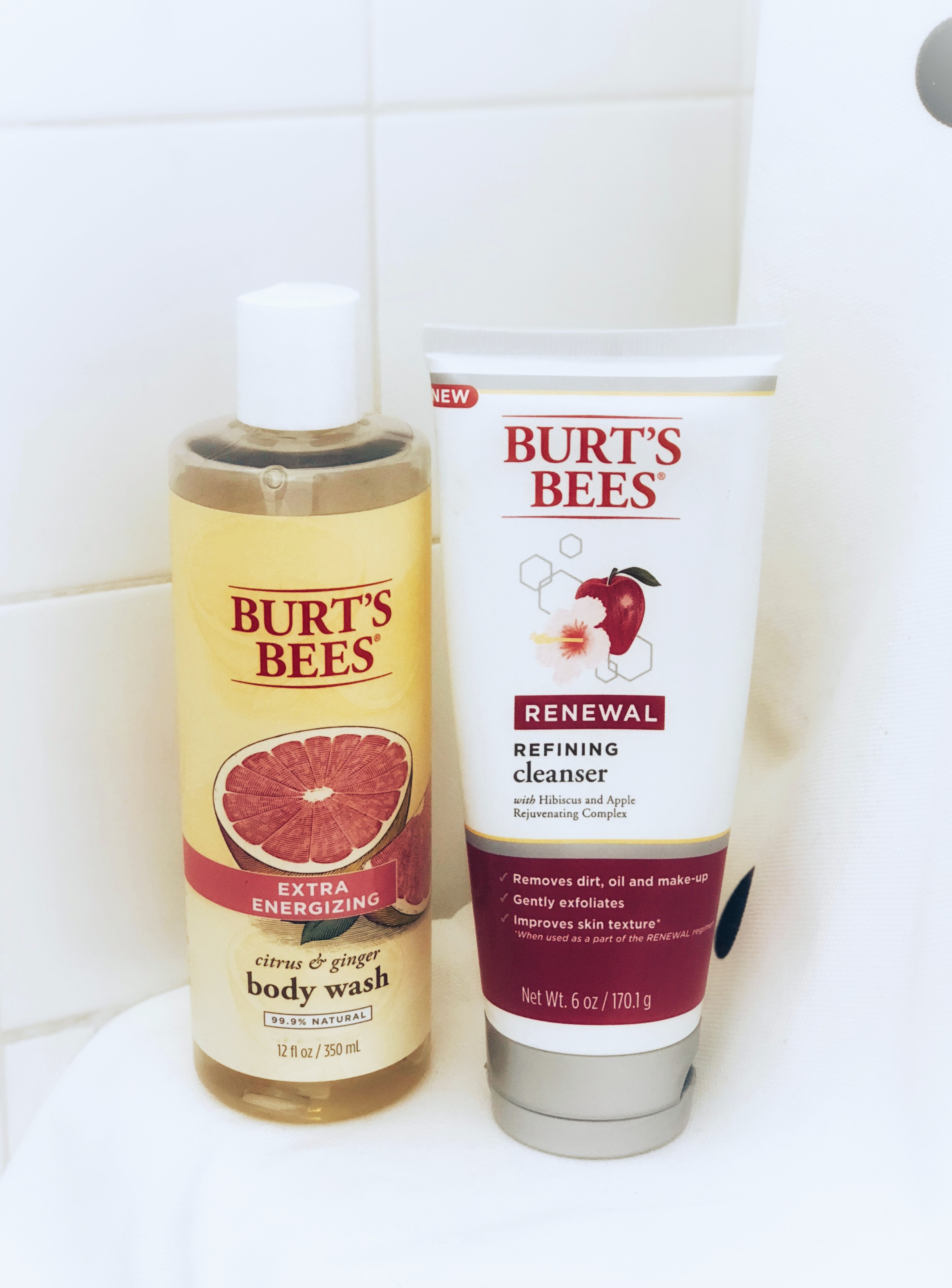 burt's bees body wash and facial cleanser