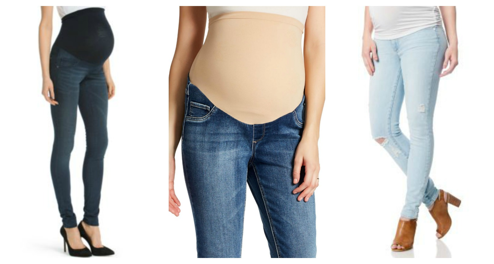 maternity jeans collage