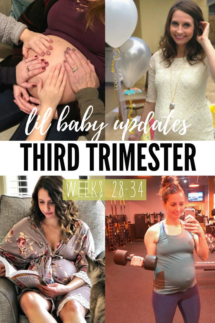 life in leggings baby - third trimester update weeks 28-34