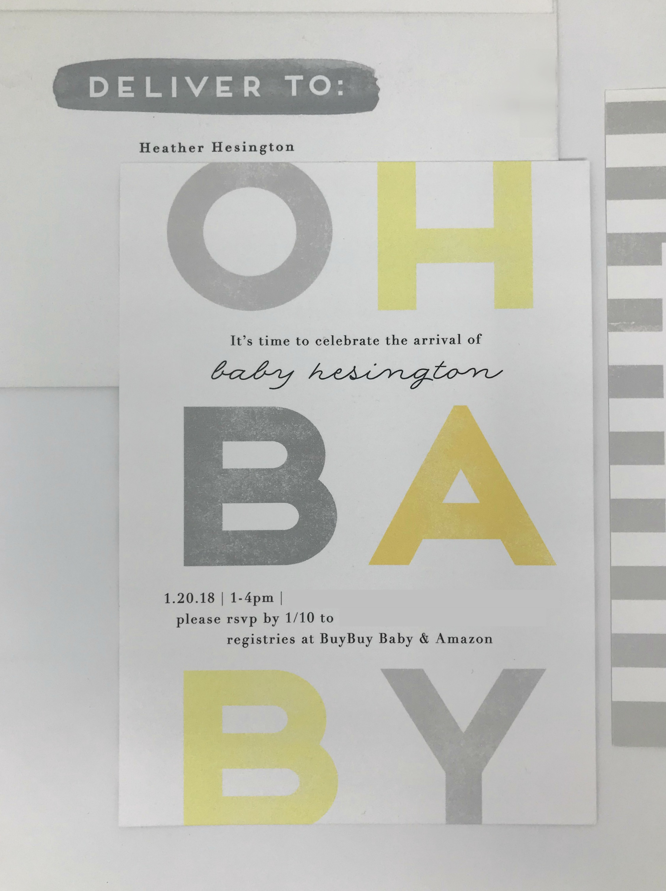 baby skyler shower invites - life in leggings - minted