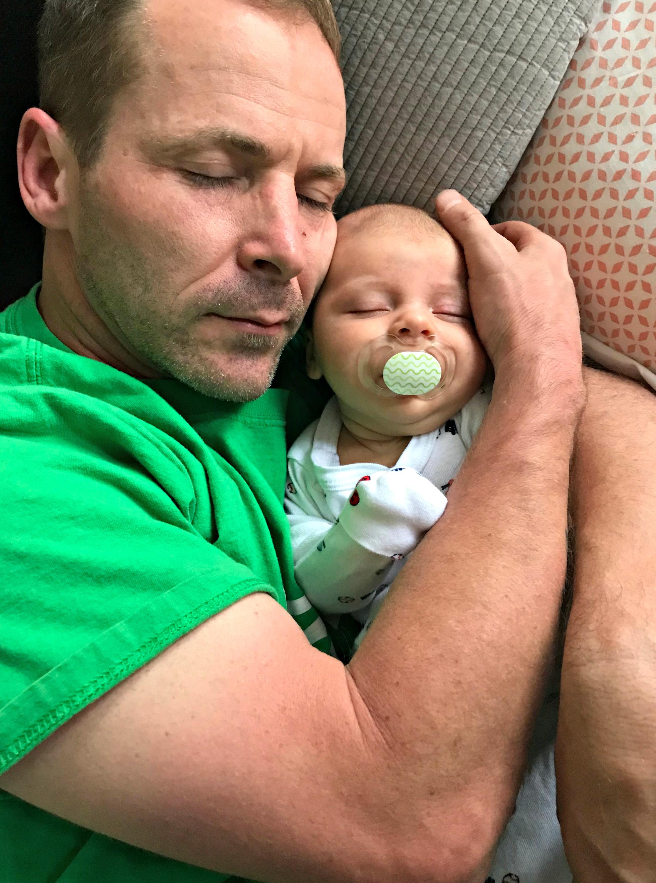 scott and skyler sleeping 7 weeks